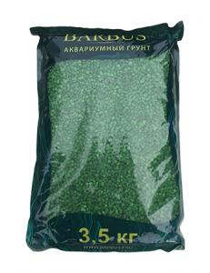 Грунт BARBUS мрамор крашенный зеленый 2-4 мм. 3,5 кг.
