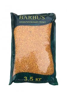 Грунт BARBUS мрамор крашенный оранжевый 2-4 мм. 3,5 кг.