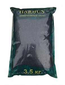 Грунт BARBUS мрамор крашенный черный 2-4 мм. 3,5 кг.
