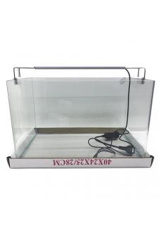 Аквариум прямоугольный стекло, 30 литров 400х250х280 (ZELAQUA)