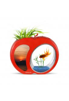"""Аквариум комплект """"sunsun"""" YB-01 красный, 3 литра"""