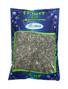 Грунт Zelaqua галька речная 1-3 мм. 3 кг