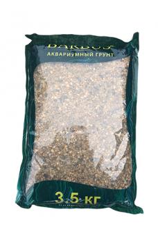Грунт BARBUS горный кварц 2-3 мм. 3,5 кг.