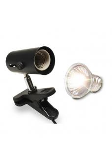 Светильник (маленький) черный uvb+uva галоген. лампа 50вт (ZELAQUA)