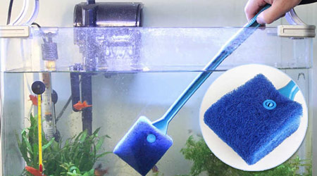 Магнитный скребок для аквариума